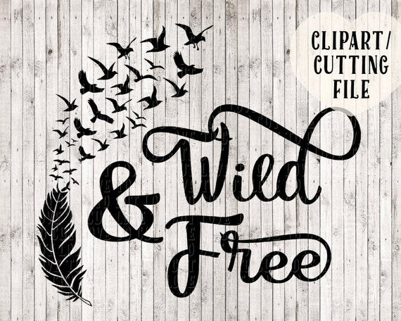 Wild And Free Svg Bird Svg Feather Svg Svg Designs Vinyl Etsy