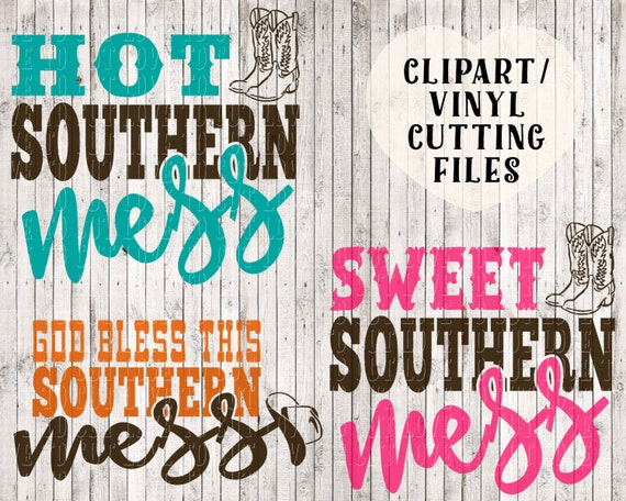 Hot Southern Mess Svg Sweet Southern Mes Svg God Bless This Etsy