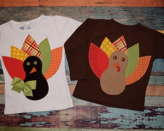 GOLDEN HARVEST collection Boys or Girls Custom Turkey tee in sizes 6-12-18-24 mth 2-3-4-5-6-8-10