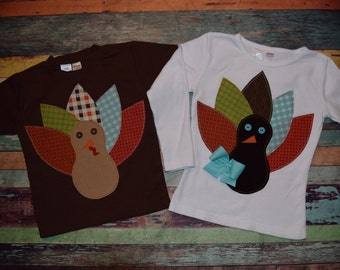 THANKSGIVING HARVEST collection - Boys or Girls Custom Turkey tee in sizes 6-12-18-24 mth 2-3-4-5-6-8-10