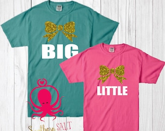 Comfort Colors Big Little T-Shirt - Sorority Shirt - Cheer Shirt