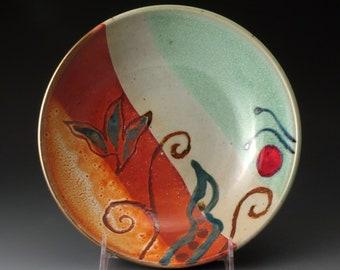Ceramic Bowl with Pea Design, Handmade Ceramic Bowl, Salad Bowl, Pasta Bowl, Soup Bowl, Serving Bowl, Fine Art Ceramics