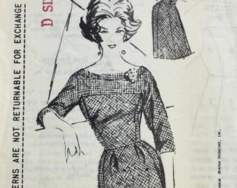 "1960s dress pattern / Spadea 1014 by Anthony Bloffa / 1960s cocktail dress / bust 35"""