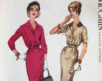 """1950s dress pattern / McCall's 5233 / 1950s shirtwaist dress / 1950s day dress / bust 32"""""""
