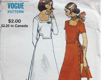 """1970s sewing pattern / Vogue 8156 / 1970s dress & shorts / bust 31.5"""""""