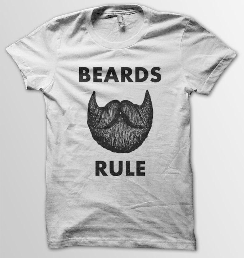 Beards Rule unisex white tee image 0
