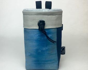 Handpainted Navy Canvas Patchwork Chalk Bag