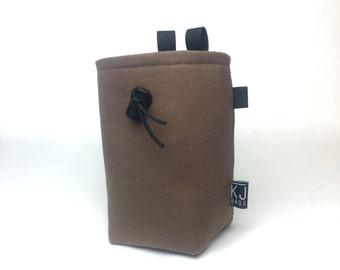 Solid Brown Canvas Chalk Bag