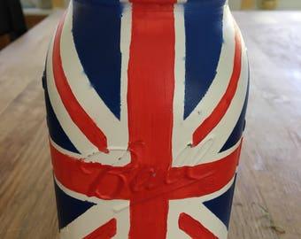 Union Jack Mason Jar - British Flag Vase