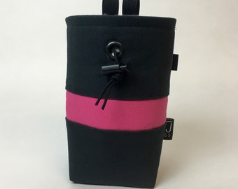 Black and Pink Canvas Chalk Bag