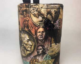 American Indian Chalk Bag w Buffalo Nickel