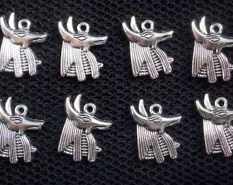 "Scarab Beetle Egyptian Necklace Pharoh Rah Egypt God Silver 18"" Protection Charm"