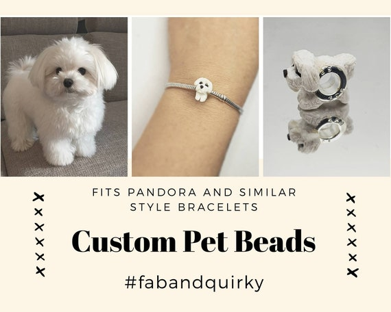 Shaggy Dog Animal Bead Charm Spacer Fits European Bracelets