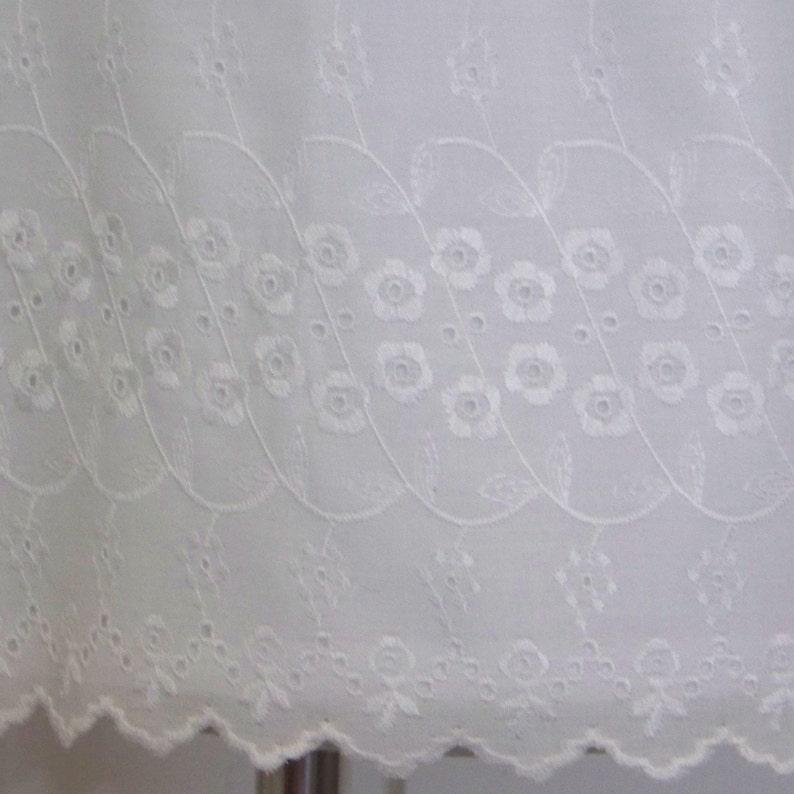 957b6b018bad87 Girls White Eyelet Blouse. Peasant style embroidered tunic or   Etsy