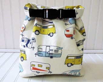 Lunch Tote - Lunch Box - Lunch Bag For Kids - Lunch Bag Kids - Lunch Bag - Insulated Lunch Bag - Happy Camper - Insulated Lunch Tote