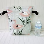 Lunch Bag - Flamingo Bag - Lunch Bag for Women - Flamingo Lunch Bag - Lunch Bag Insulated - Lunch Bag Tote - Roll Top Lunch Bag