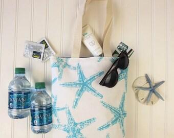 Bridesmaid Gifts Cheap - Bridesmaids Bags - Wedding Welcome Bags - Starfish Mini-totes - Beach Wedding Favors - Starfish Wedding