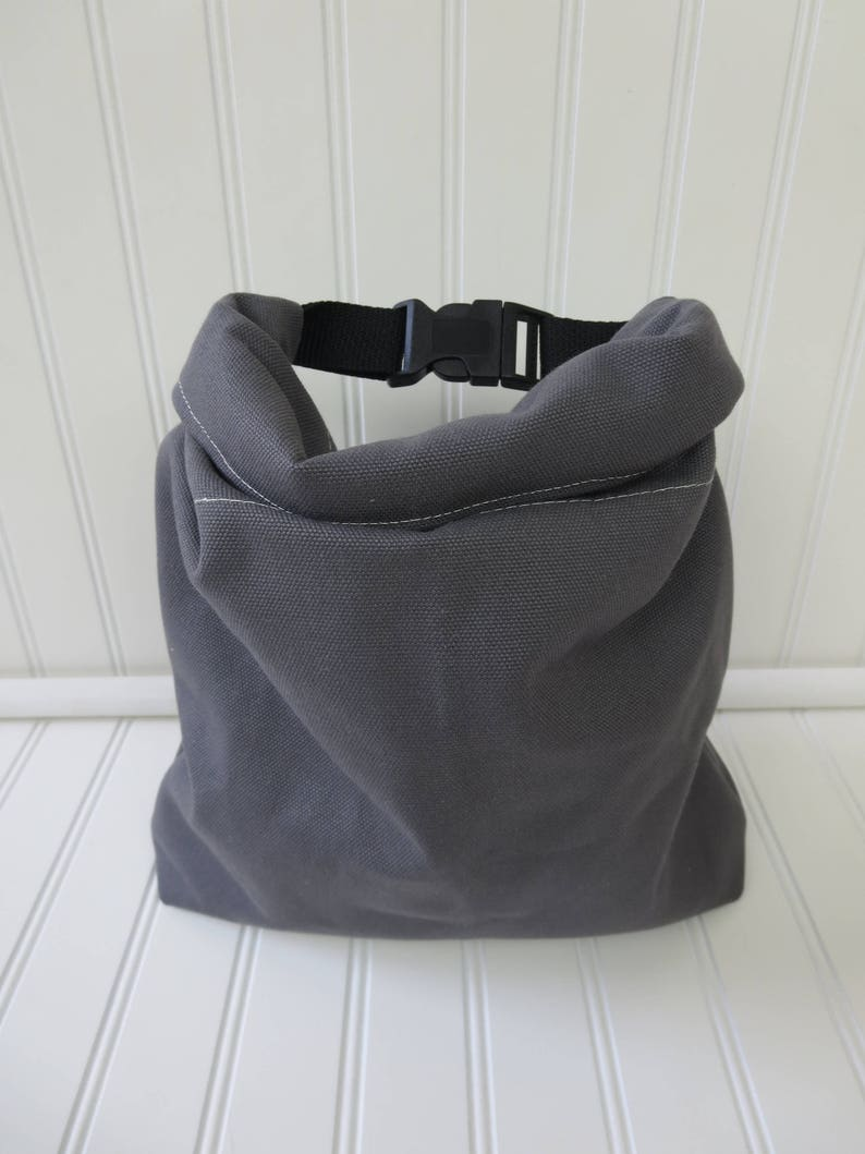 Insulated Lunch Bag for Men Gift for Him  Soft Cooler  Gray