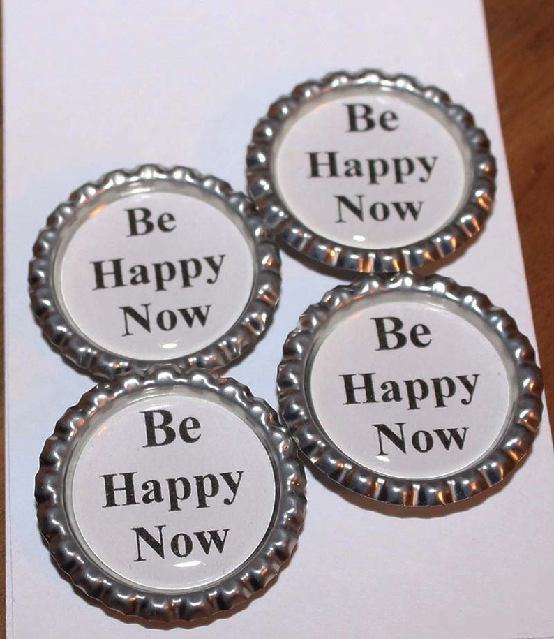Be Happy Now Super Strong Magnets Set of 4