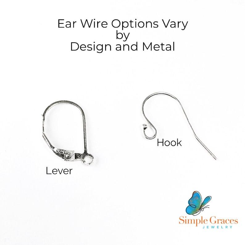 White Pearl Dangles 5th Anniversary Gift for Wife Wood Earrings Wood Jewelry Wooden Earrings