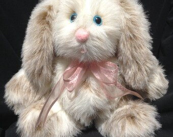 Plush Bunny, Stuffed Bunny, Stuffed Animals, Plush Animals, Stuffed Animal, Faux Fur Bunny, Plush Rabbit, Handmade Rabbit, White Rabbit