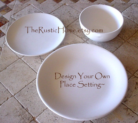 & Design your own place setting tableware dinner plate salad
