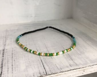Adventure Awaits, Morse Code Stretchy Bracelet, Pick your own colors