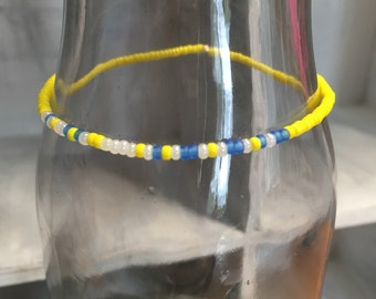 """Morse Code """"Run Happy"""" stretchy bracelet, Pick your own colors"""