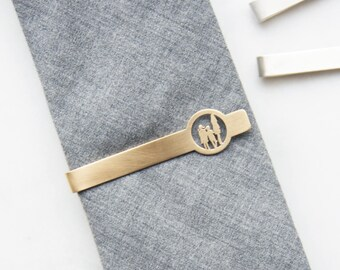 Cut Out Silhouette Tie Bar - Custom from Photos