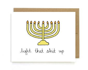 photograph relating to Free Printable Hanukkah Cards called Hanukkah Playing cards Etsy
