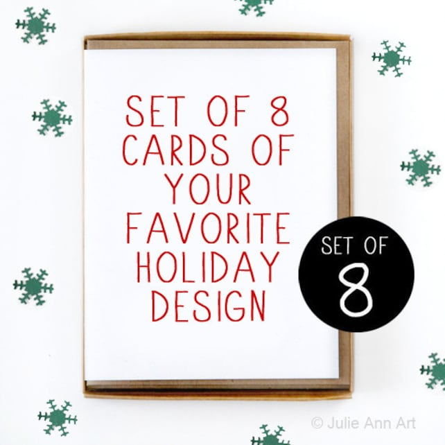 Christmas Card Set of 8 - Pick Your Favorite Design