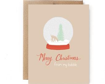 Social Distancing Christmas Card - Social Distancing Holiday Card - 2020 Holiday Card - My Bubble