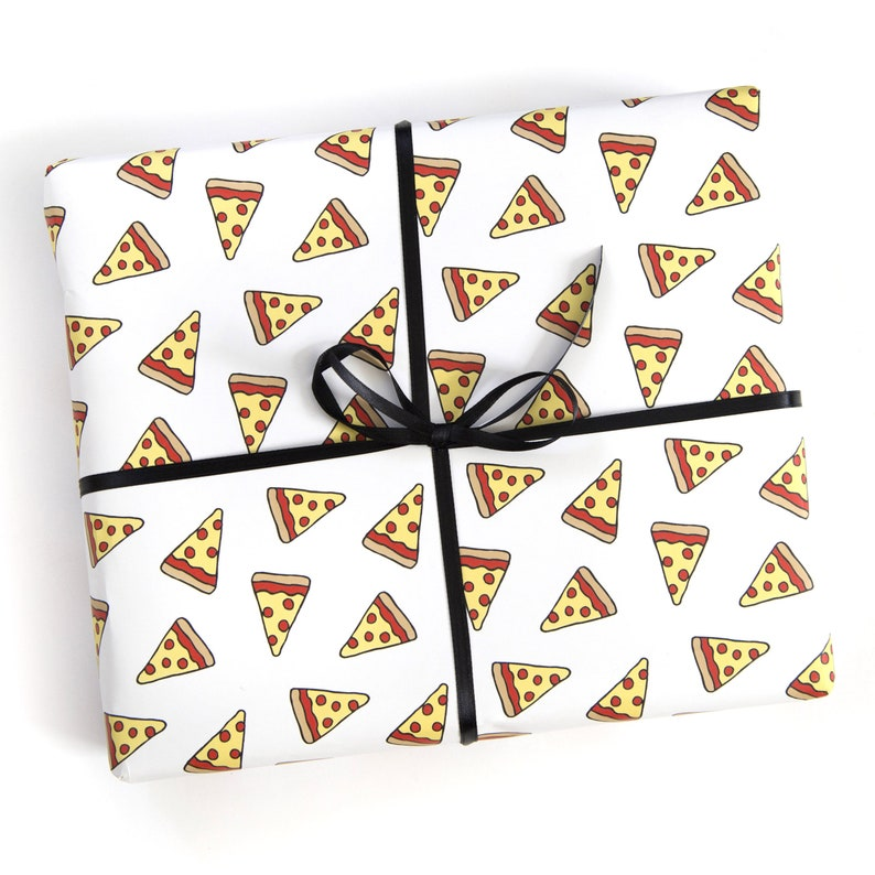 Funny Wrapping Paper  Geek Gift Wrap  Pizza image 0