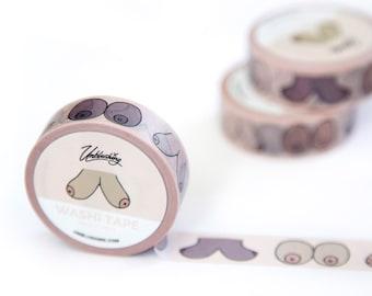Feminist Gift - Gift for Her - Boobs - Boob Washi Tape
