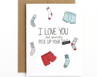 Funny Valentine Card - Pick Up Your Sh-t - Mature