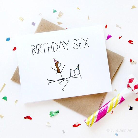 Funny Birthday Card Birthday Sex Card Boyfriend Birthday Etsy