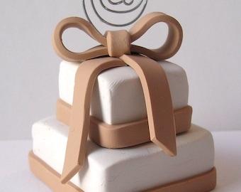Wedding Cake Photo Holder - Place Card Holder