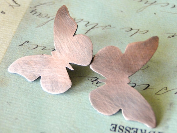 Butterfly Earrings, Woodland, Copper