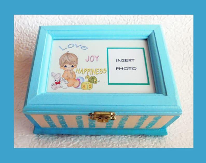 Boîte à souvenirs bébé garçon musique boîte à souvenirs joue   Etsy