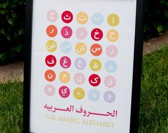 Arabic Alphabet Print (Girl Colorway)