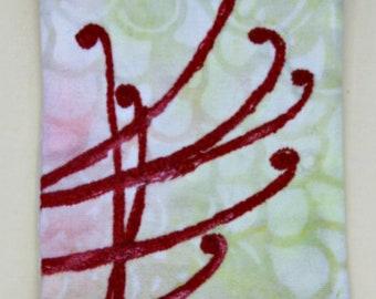 Wearable Textile Art Pin #31