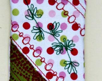 Wearable Textile Art Pin #97