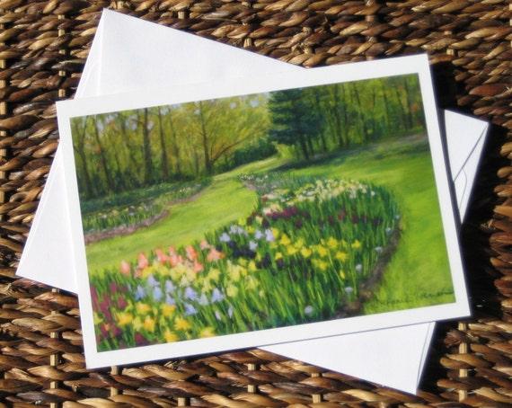 Set of 4 Iris Blank inside Cards