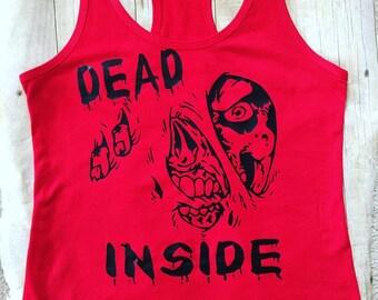 Dead Inside Zombie Red Shirt/Tank