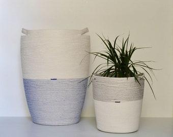 Rope laundry basket, bin for blankets, additional storage basket or bag for toys