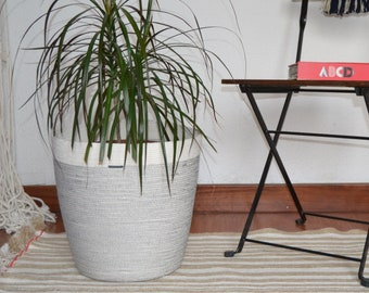 Indoor planter basket. Simple rope decor basket, a gift for your home