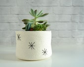 Indoor planter nordic style ideal as a succulent pot or as a Bathroom basket for a natural decor. Plant pot, Cotton pot, Kids basket