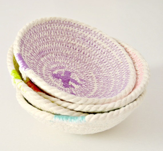 Mini Rope Bowls set of 4