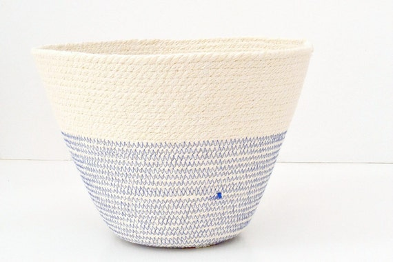 Boho style basket, Office planter, Pot basket, Beach style decor, decor accessories, Rope baskets, Fruit cotton bowl, Bread basket bowl