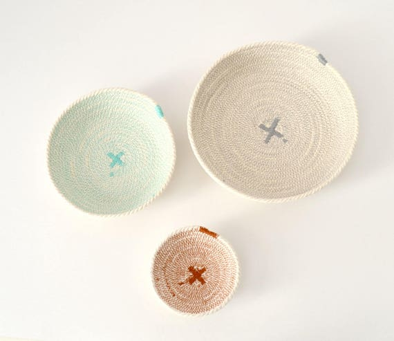 Nesting rope bowls